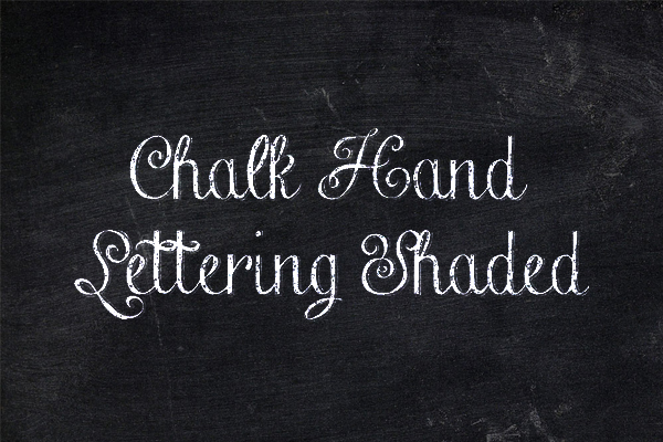 Chalk Hand Lettering Shaded