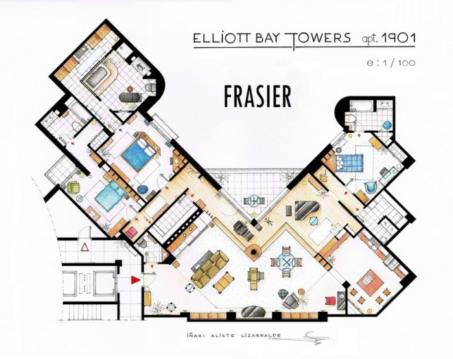 Frasier Apartment Floorplan