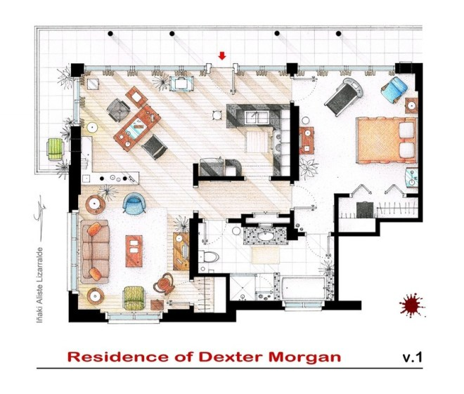 Dexter's House Floor Plan