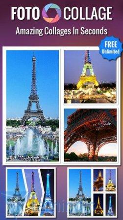 Foto Collage  İphone, Ipad için Geliştirilmiş Resim Kolaj Uygulaması