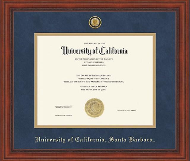 Ucsb Millennium Diploma Frame