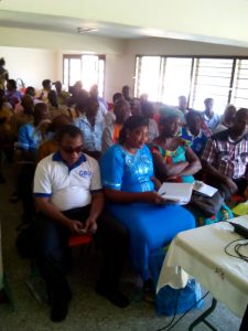 Participants from various civic grouping receive training on advocacy