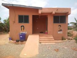 Nzema East Assembly Renovates Toilets to Suite PWDs