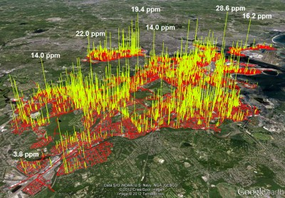 Boston's methane emissions