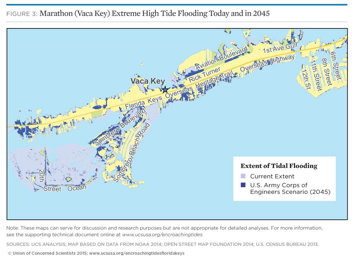 encroaching tides in the florida keys
