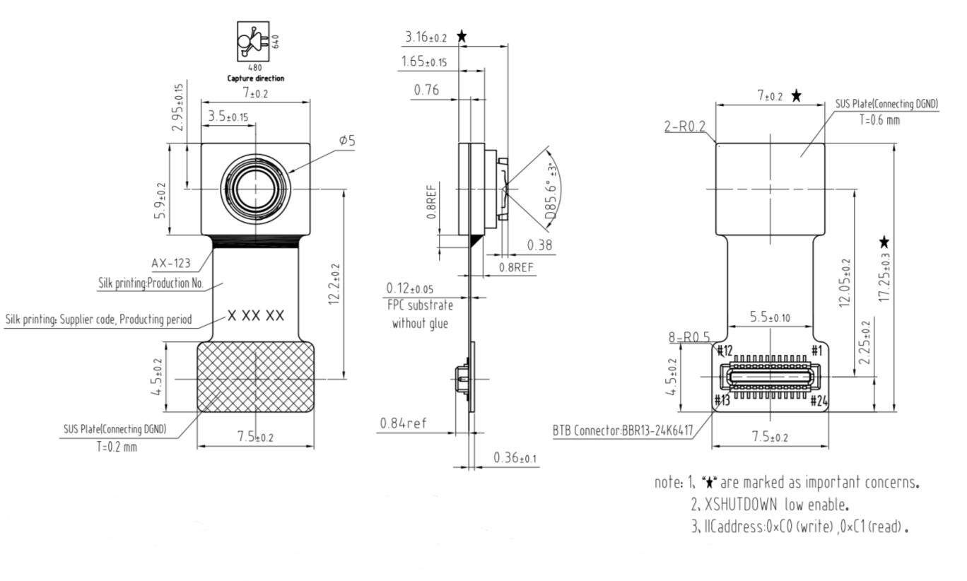 0 3mp Ov 1 7 5 Cmos Global Shutter Standalone Camera
