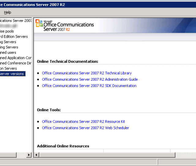 Ocs 2007 R2 Management Console