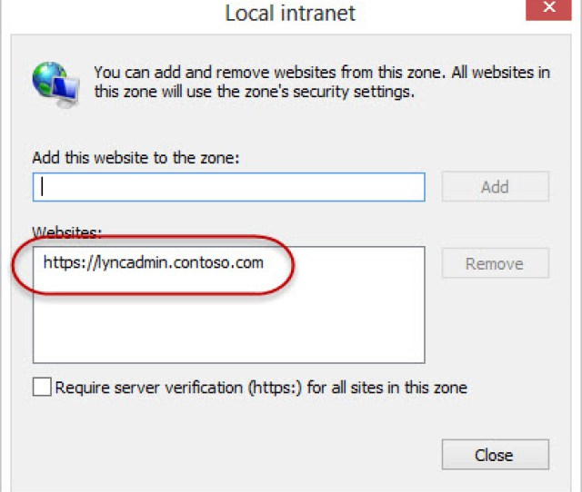 Internet Explorer Trusted Intranet Zone