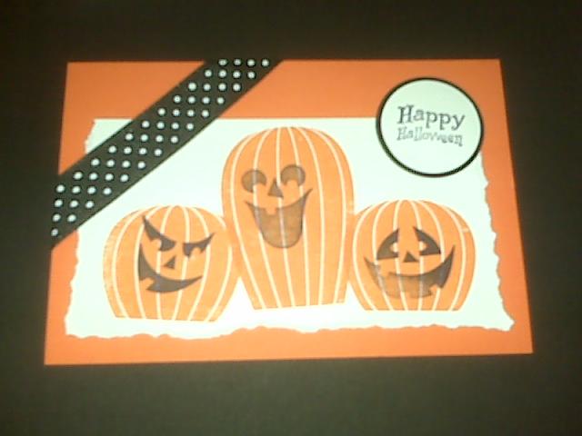 Halloween Stamped card | udandi.com
