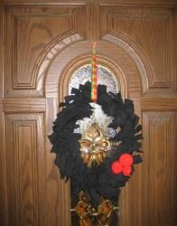 pants into halloween wreath