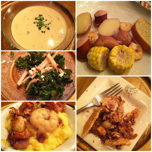 low country boil at Glendalia Culinary Studio