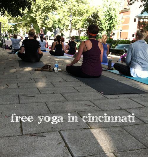 Free Yoga in Cincinnati resource from udandi.com