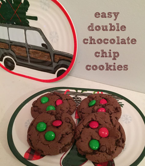 Easy Double Chocolate Chip Cookies |udandi.com