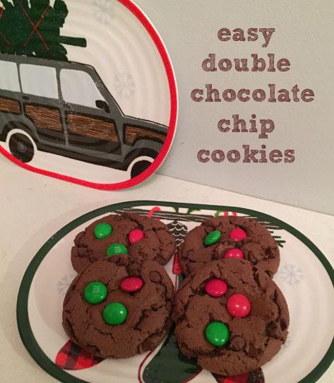 Easy Double Chocolate Chip Cookies |udandi.com