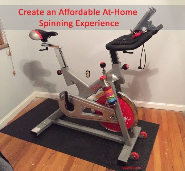 Create an affordable studio spinning experience at home
