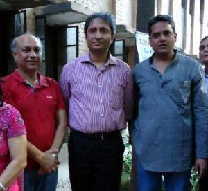 Advocate Ashok Agarwal with Ravish Kumar NDTV and Rahul Verma of Uday Foundation