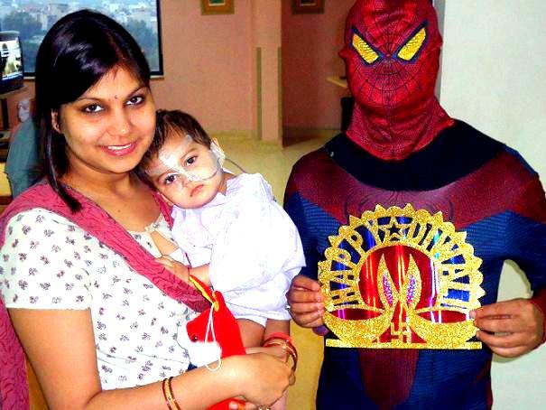 Diwali-Celebration-2015 Spider man