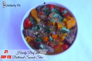 21 Day Fix – Hearty Beef and Butternut Squash Stew