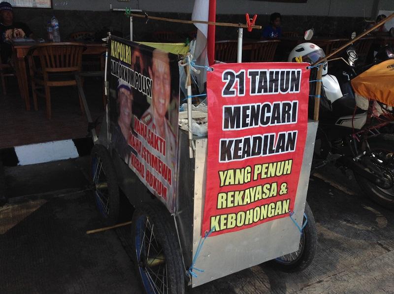 Gerobak Keadilan Indra Azwan kota Malang