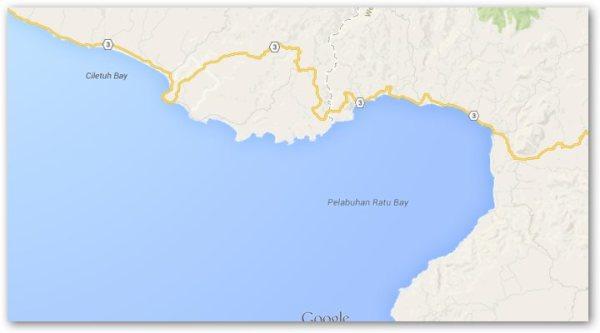 Peta Pelabuhan Ratu