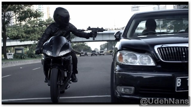 Stuntman Indonesia adegan motor di The Raid 2 Berandal 10
