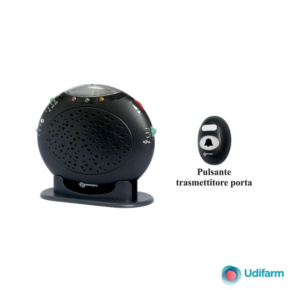 Avvisatore luminoso/sonoro + 95 dB per porta e telefono modello AMPLICALL-20