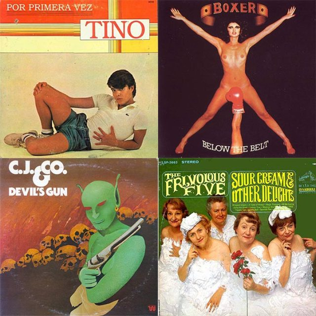 Worst Album Covers Tino Fernandez Por Primera Vez Boxer Below The Belt CJ & Co Devils Gun The Frivolous Five Sour Cream & Other Delights