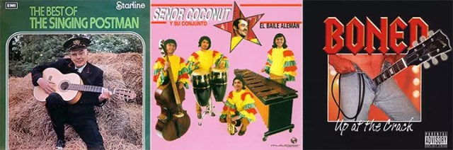 The Worst Album Covers Best Of The Singing Postman Senor Coconut El Baile Alemán Boned Up At The Crack