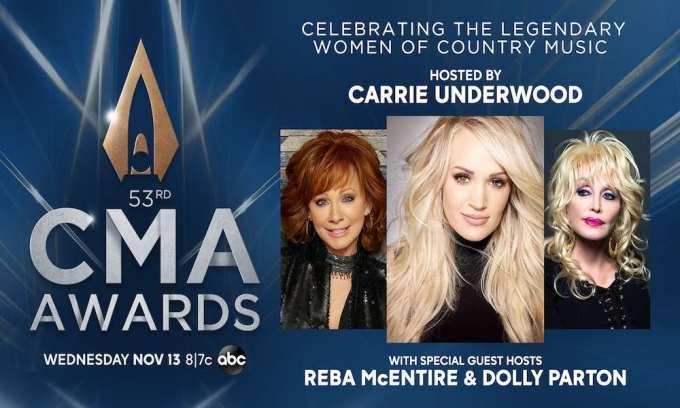 CMA Awards, CMA, 2019, Awards, Carrie Underwood, Carrie, Reba, Dolly