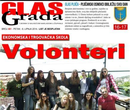 Školski volonterski klub na naslovnici