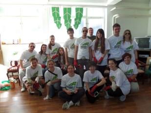 Volonteri na Zelenoj čistki