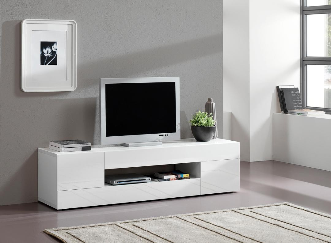 Meuble Tv Blanc Moderne Choix Dlectromnager