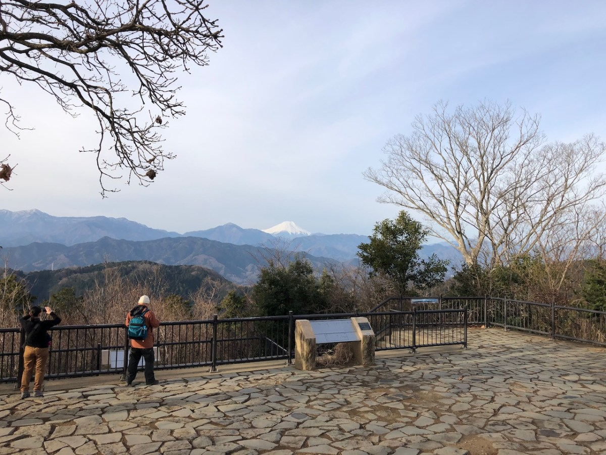 高尾山から富士山