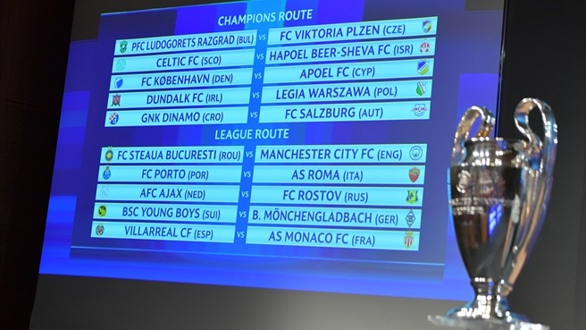 Champions League play-off draw made