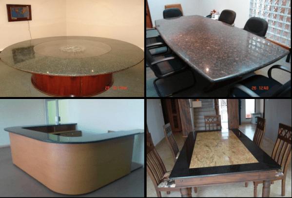 Granite countertops and tabletops