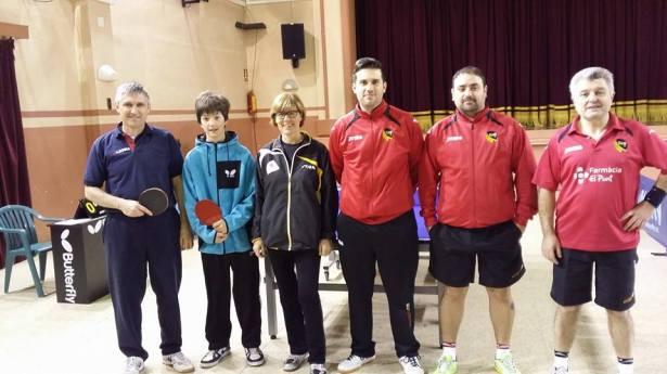 L'equip de Segona Provincial A amb Gabriel Oliveras al centre II Foto: CTT La Unió