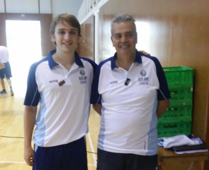 David Pascual, a l'esquerra, acompanyat de Jou Marimon