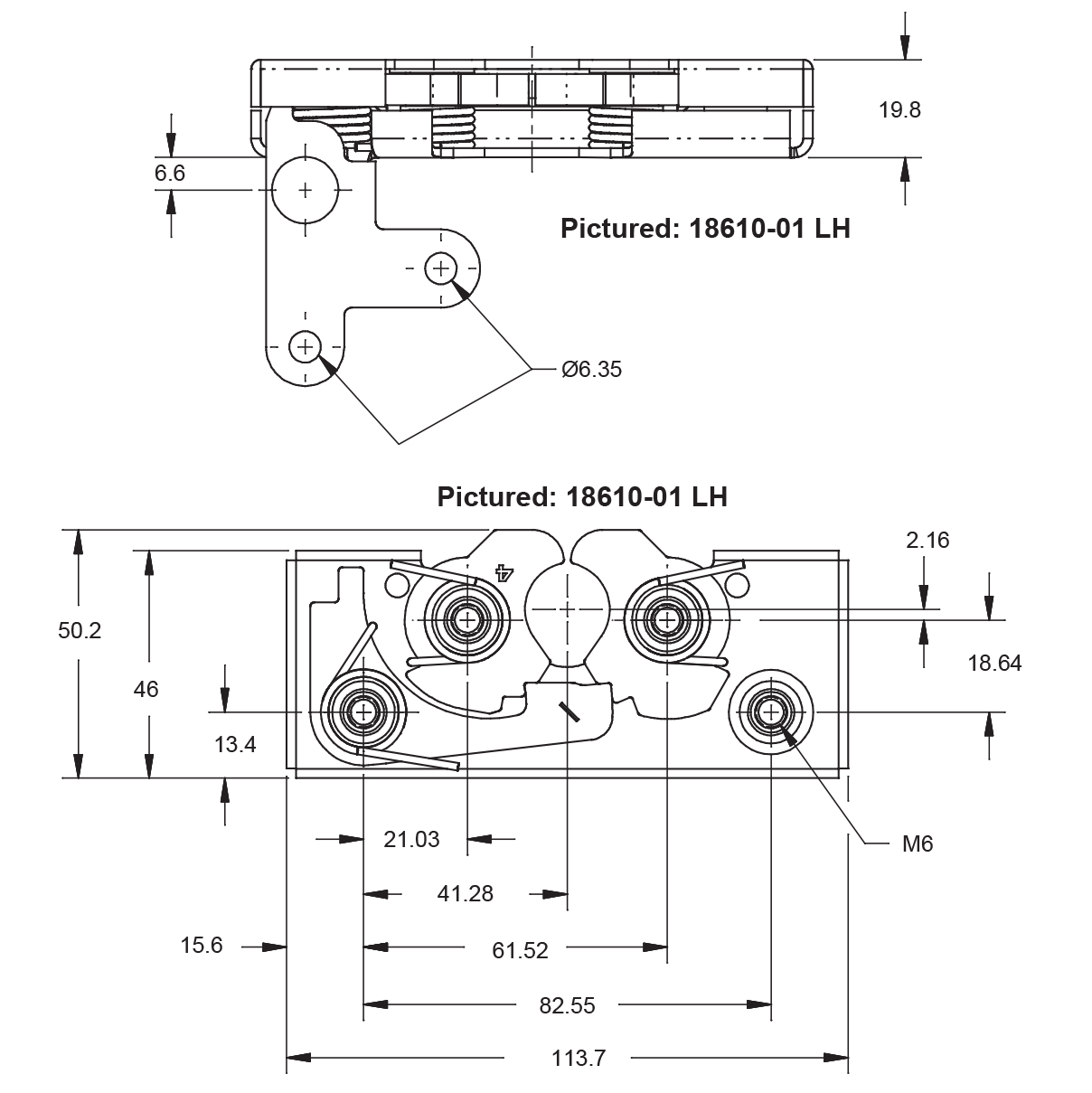 Two Stage Rotary Latches