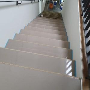 UF Bodenverlegung Treppe mit Belag 1