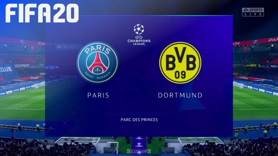 Paris Saint-Germain vs Borussia Dortmund