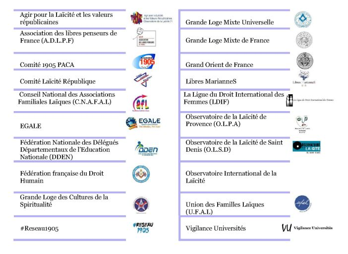 Liste des associations signataires