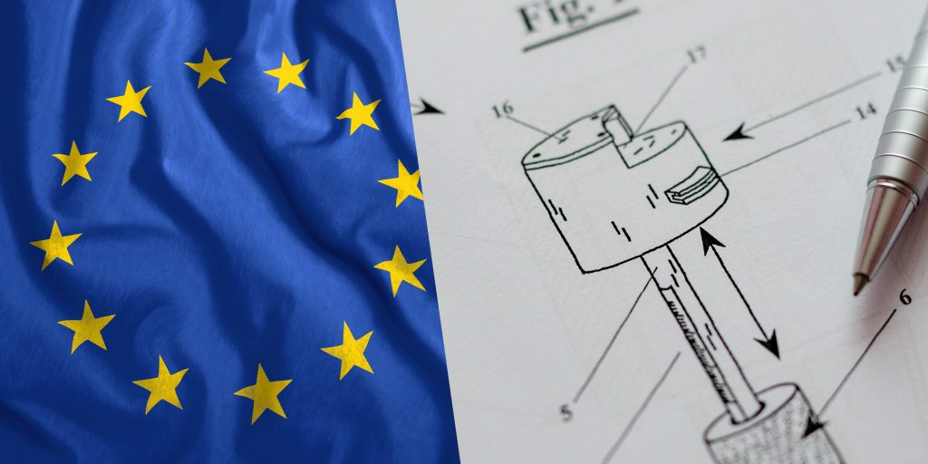 patent project with european flag