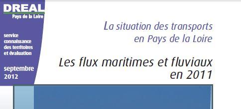 Les flux maritimes et fluviaux en Pays de la Loire. Source DREAL