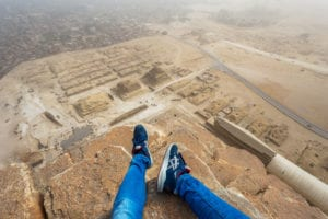 Illegally climbed the Pyramid of Giza