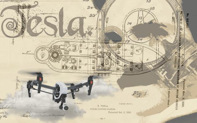 Nikola Tesla patented a Drone