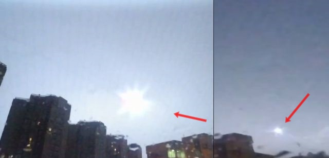 Lightning makes UFO disappear