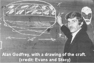 Godfrey with drawing of sighting