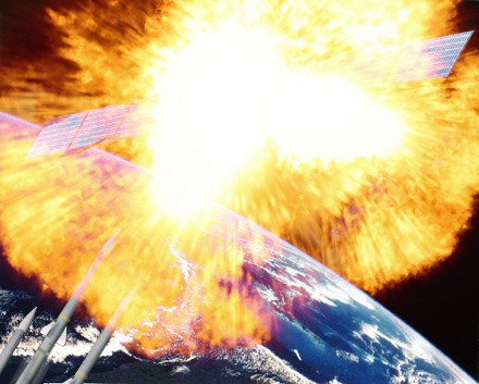 Was the recent US Satellite explosion in space caused by Aliens?!
