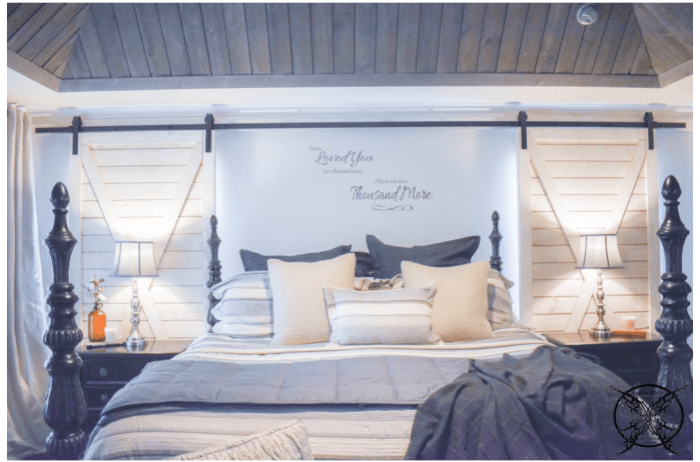 shiplap bedroom makeover with interior