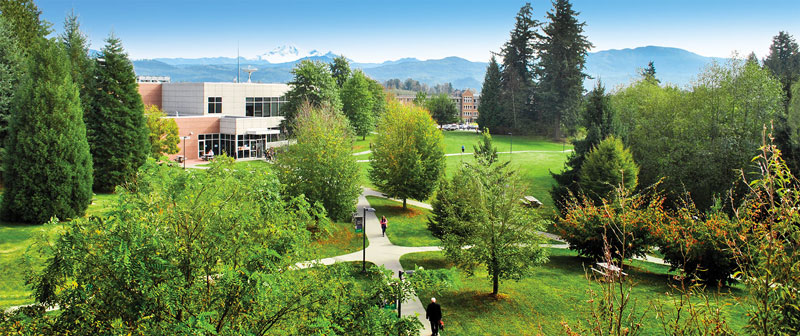 Aerial view of the UFV Abbotsford campus